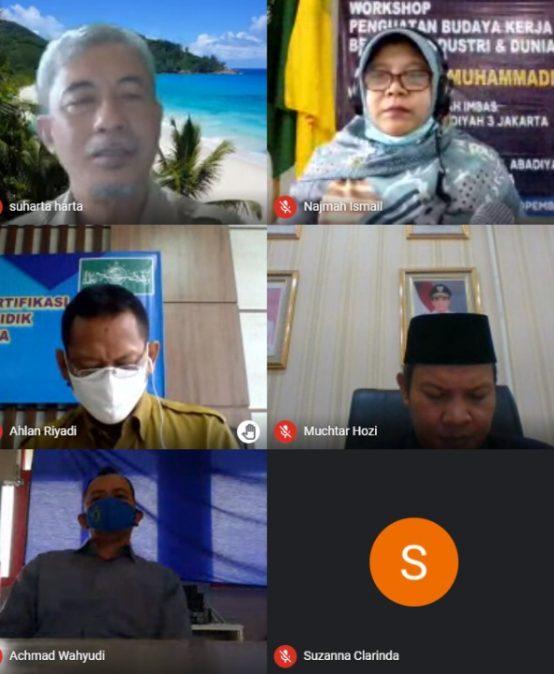 Sosialisasi Penguatan Budaya Kerja SMK Muhammadiyah 4 Jakarta